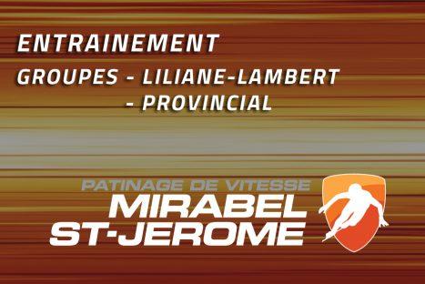 Entrainement Liliane-Lambert et Provincial