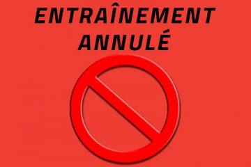 Entrainement Inter/Prov annulé!