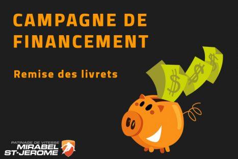 Campagne de financement – Retour des livrets