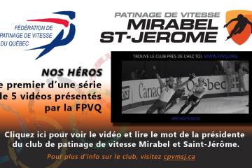 Premier vidéo de la FPVQ et mot de la présidente du club