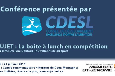 Conférence : La boîte à lunch en compétition