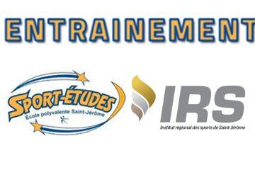 Entrainement Sport-études à l'IRS